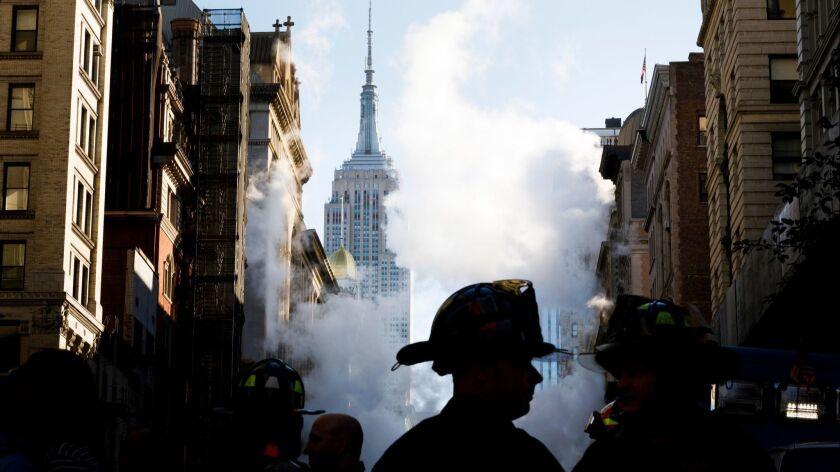 Steam Explosion in New york, USA - 19 Jul 2018