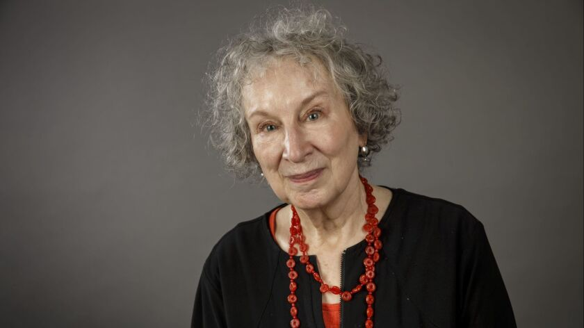 Margaret Atwood, author of The Handmaid's Tale, stands for a portrait during the Los Angeles Times F