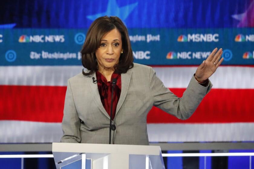 Kamala Harris during the Democratic debate