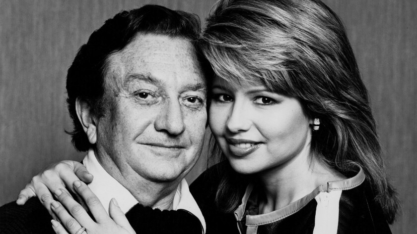 Meshulam Riklis with his then-wife, Pia Zadora, circa 1977.