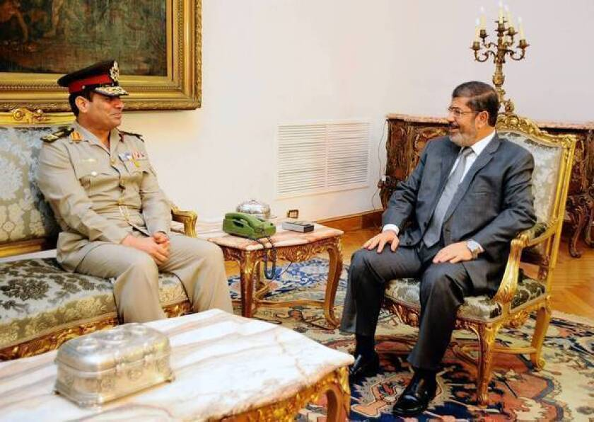 Egypt president's firing of generals seen as 'soft coup'