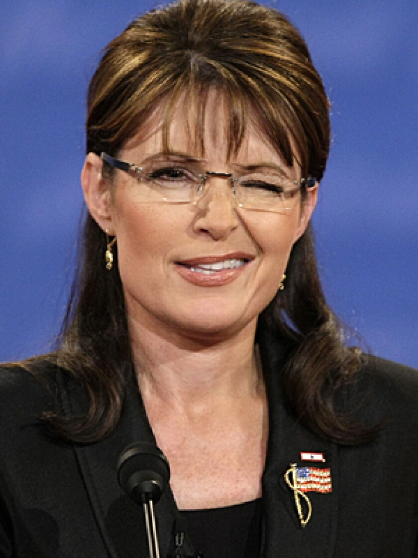 EYE CATCHING: Sarah Palin winked at least six times during her debate with Joe Biden.