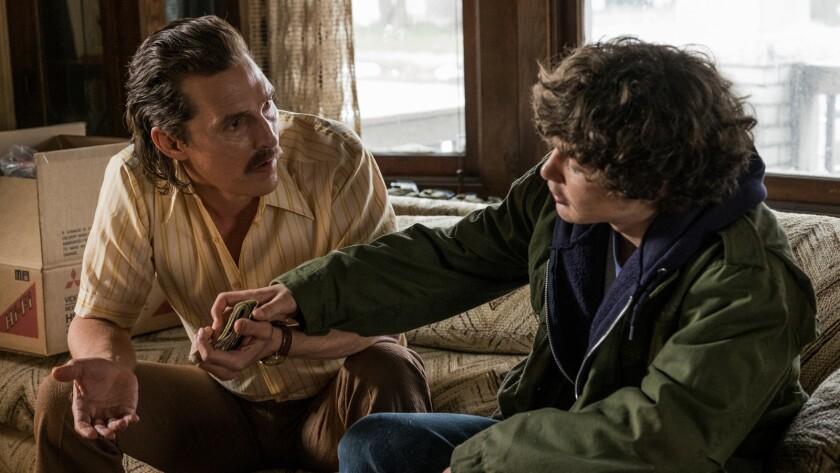 """Matthew McConaughey, left, and Richie Merritt in """"White Boy Rick."""""""