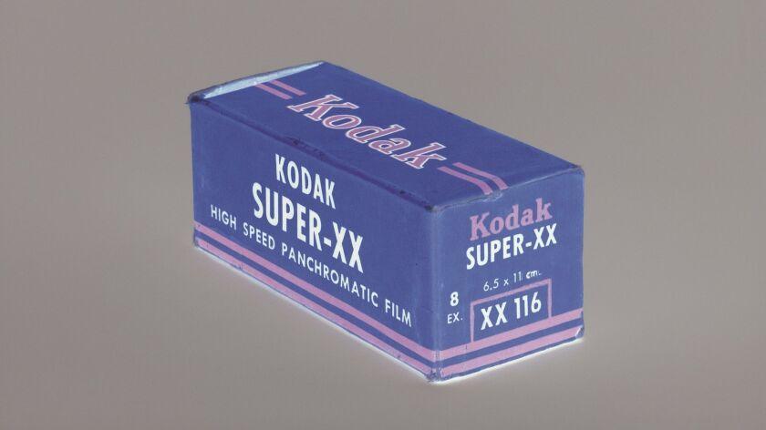 """Morgan Fisher, """"Negative Kodak Super-XX 116 July 1952 (detail),"""" 2015, archival pigment print"""