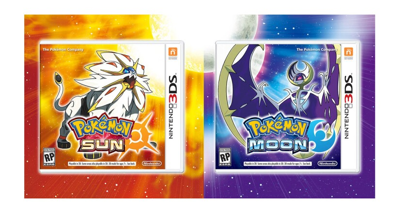 Pokemon Sun and Moon are being released for the Nintendo 3DS gaming console.