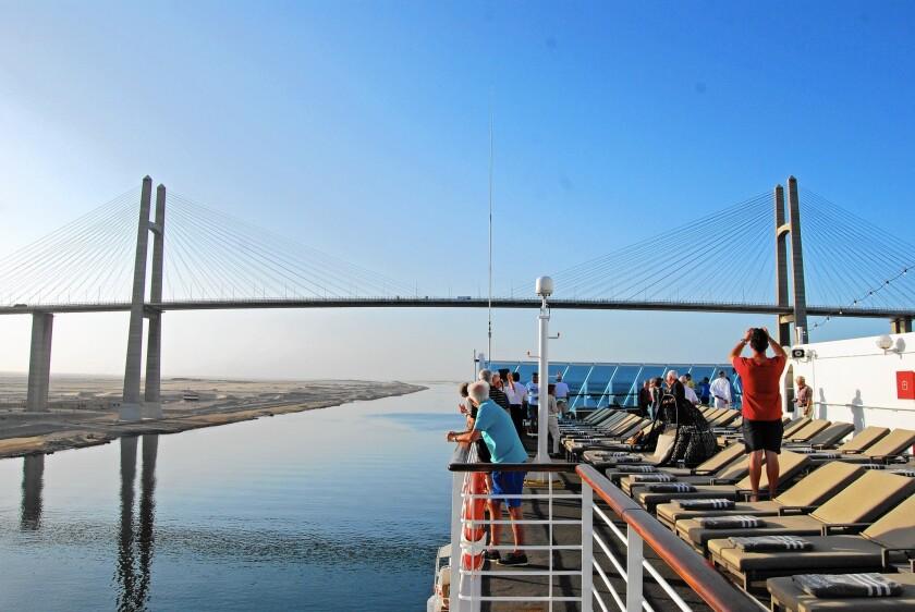 Aboard the Azamara Quest in the Suez Canal
