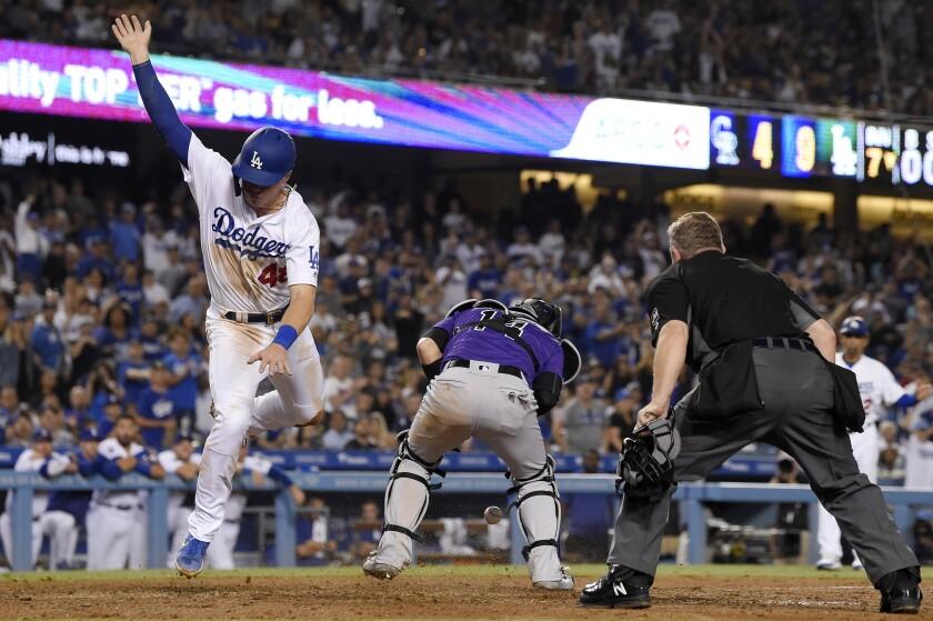 APTOPIX Rockies Dodgers Baseball