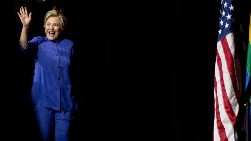 Hillary Clinton in Wilton Manors, Fla. on Oct. 30.