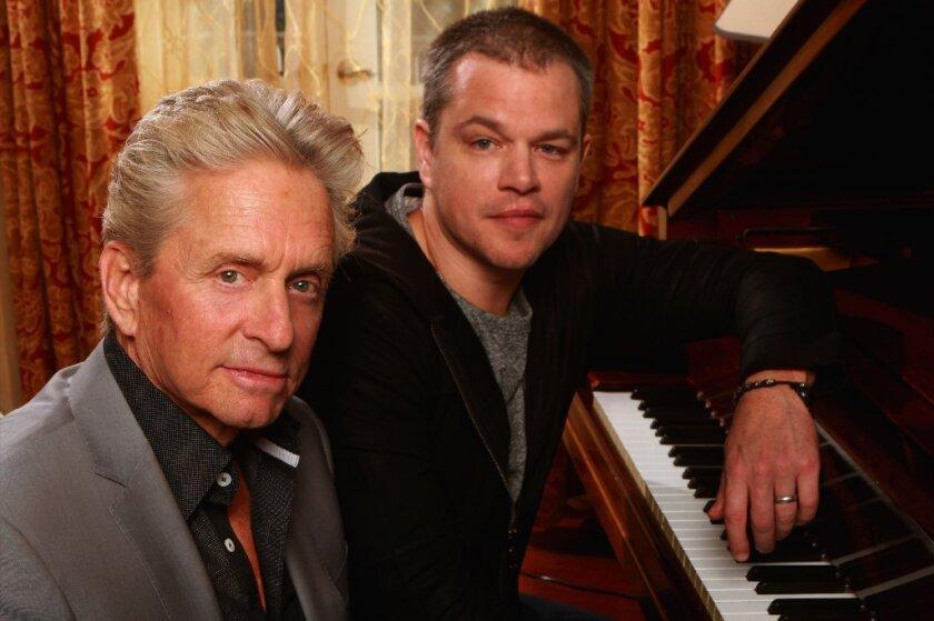 Michael Douglas, from left, and Matt Damon.