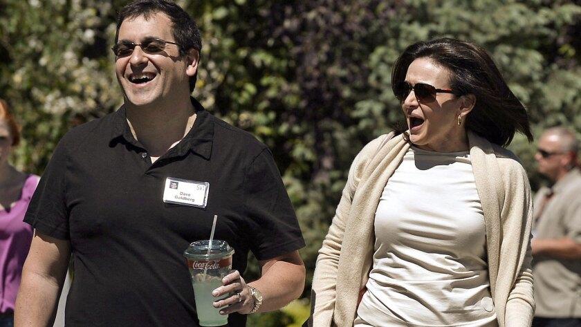 David Goldberg and his wife, Sheryl Sandberg, in Sun Valley, Idaho, in 2013.