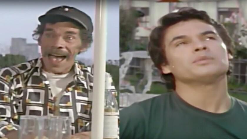 """Ramón Valdés y Juan Gabriel cantaron juntos en 1979 en una película llamada 'En esta primavera' y el clip se viralizado luego del deceso del denominado """"Divo de Juárez""""."""