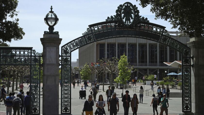 Sather Gate on the campus of UC Berkeley.