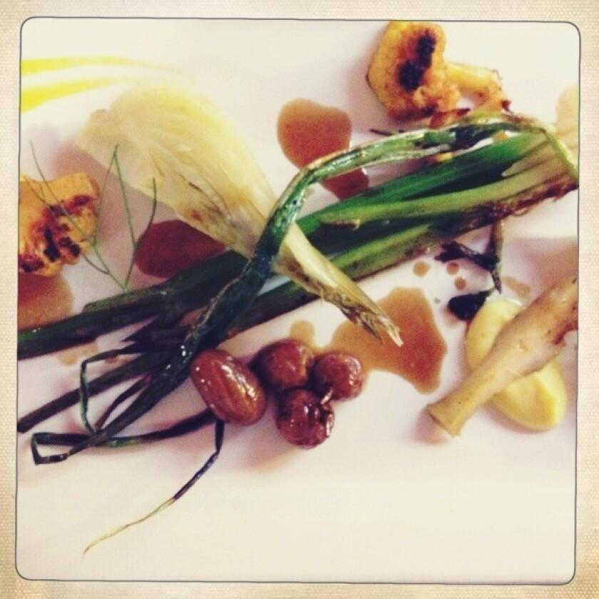 Le Comptoir features a six-course vegetable-focused tasting menu.