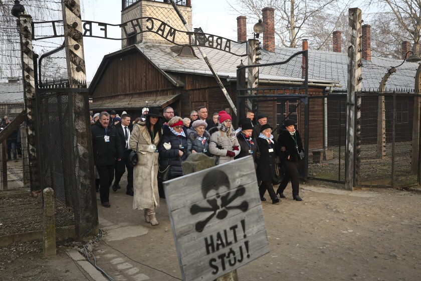 Hundreds of Holocaust survivors meet at Auschwitz-Birkenau for 75th liberation anniversary