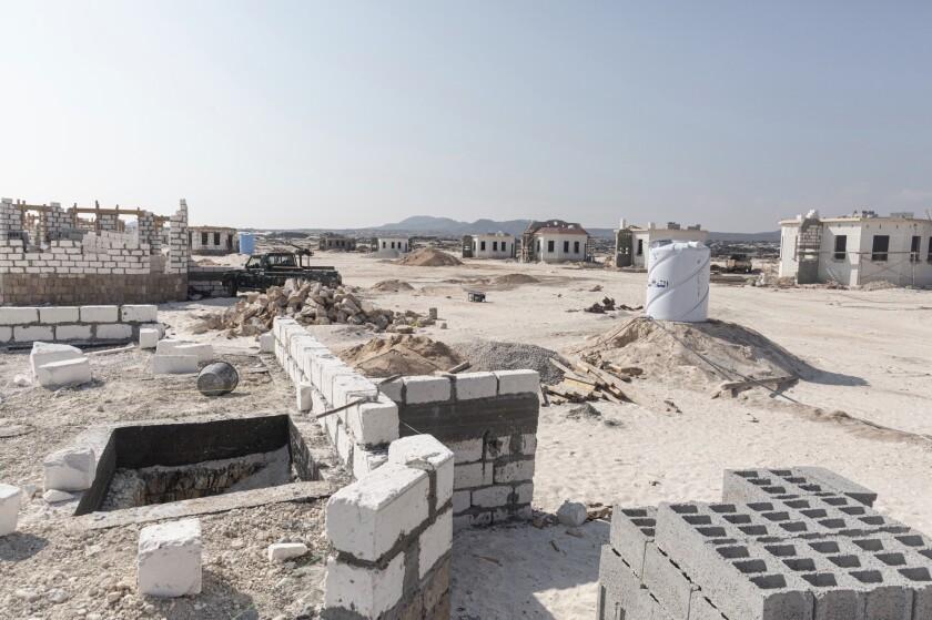 A development of beachfront properties by the Shabwa Bride Co. at Bir Ali beach in Shabwa province, Yemen.