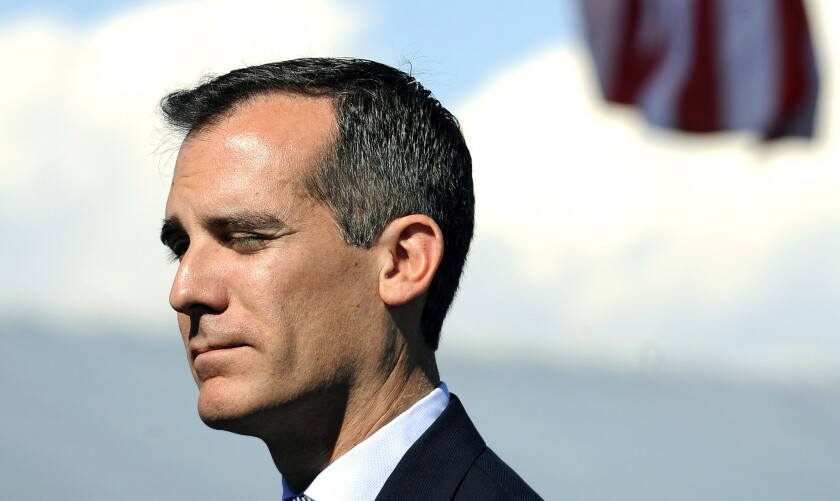A campaign erroneously claimed in videos that it had L.A. Mayor Eric Garcetti's backing for measures to shift the date of L.A. city elections.