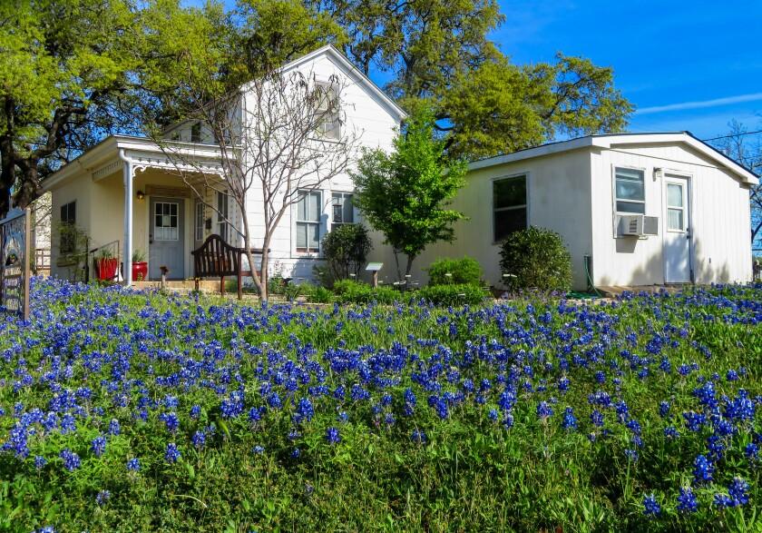 A Sunday house on West San Antonio Street in Fredericksburg, Texas