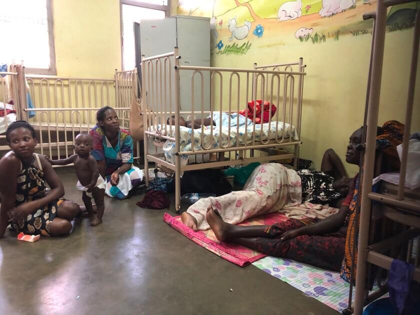 Measles isolation ward at Mulago Hospital in Kampala, Uganda.