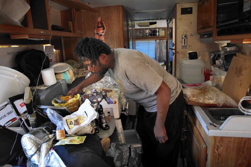 Leon Harris, who lives in his RV, says he's happy that L.A.'s ban on living in vehicles has been struck down.