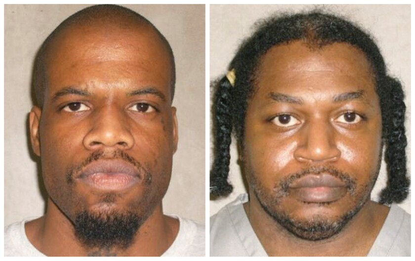 Clayton Lockett, left, died of a heart attack after a botched execution attempt in Oklahoma on Tuesday night. Charles Warner's execution was postponed 14 days while the state investigates itself.