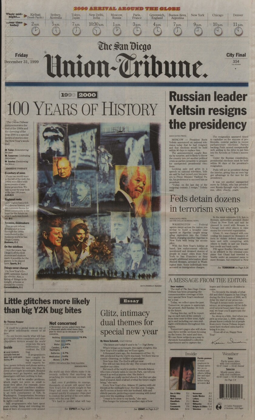December 31, 1999 front page