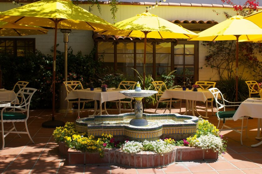 : The Terrace offers views of foliage and flowers.