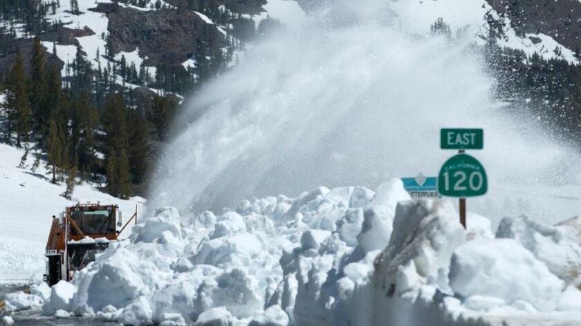 Mounds of snow last week near Yosemite National Park.