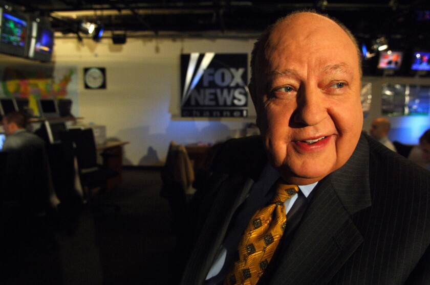 Fox News chief Roger Ailes in 2006. His cable news network will allow the top 10 Republican candidates, according to polls, in its Aug. 6 debate.