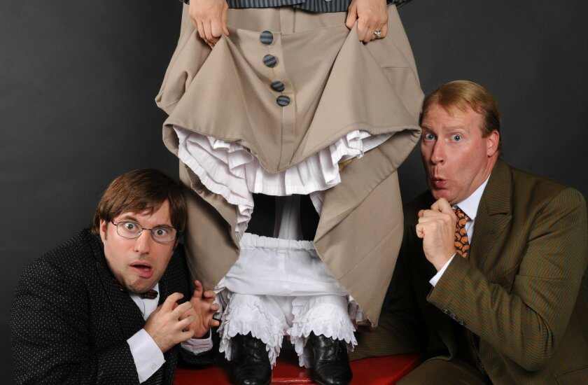 """Omri Shein, Holly Rone (at least that's her so far as we know) and Jacob Bruce star in North Coast Rep's production of """"The Underpants."""""""