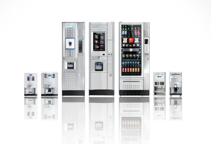 A selection of vending machines created by Rhea Vendors, the company behind a new vending machine with facial recognition software. The feature can be used to deny a person snacks based on their purchase history, medical records, age and more.