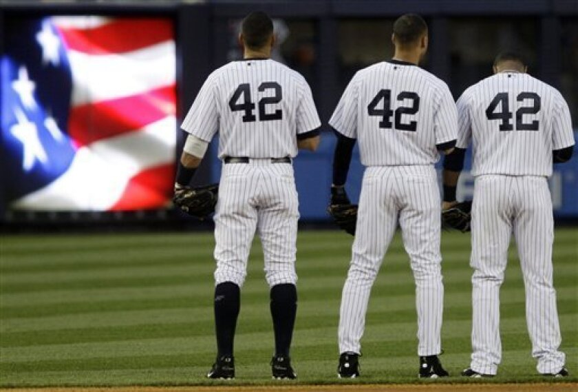 the best attitude 0ece0 7e3bc Now honoring No. 42: Jackie Robinson Day in majors - The San ...