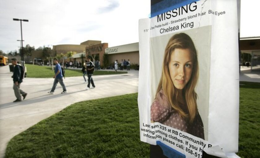 Search for Chelsea King: Monday