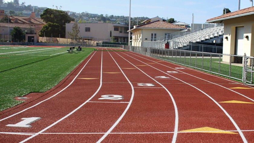 The renovated $12-million La Jolla High School Athletic Complex, unveiled in October 2016, includes new home-and-visitor plazas, entry gates, bleachers, concession buildings, restrooms, weight rooms, tennis plaza, locker room; replacing synthetic turf field and track resurfacing.