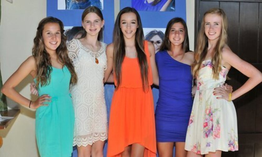 Nicole Simon, Ally Fink, Katie Coutts, Allie Omens, Katie Quick