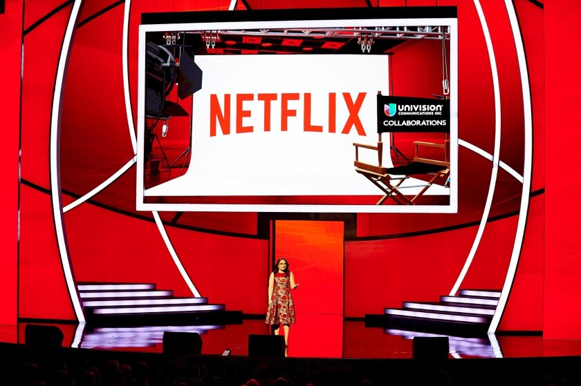 """""""Netflix knows that Hispanics are their growth consumers,"""" Univision Chief Marketing Officer Jessica Rodriguez told the crowd at a Univision presentation in New York."""