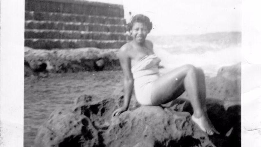 La Jolla-born Lorenza Pace at The Cove, circa 1950