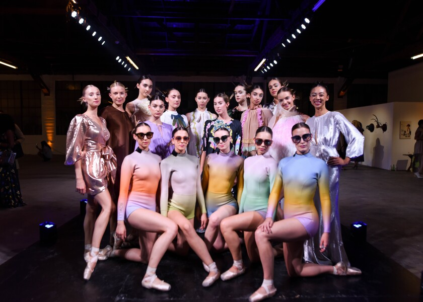 Members of the American Contemporary Ballet wearing looks by designer Cynthia Rowley.