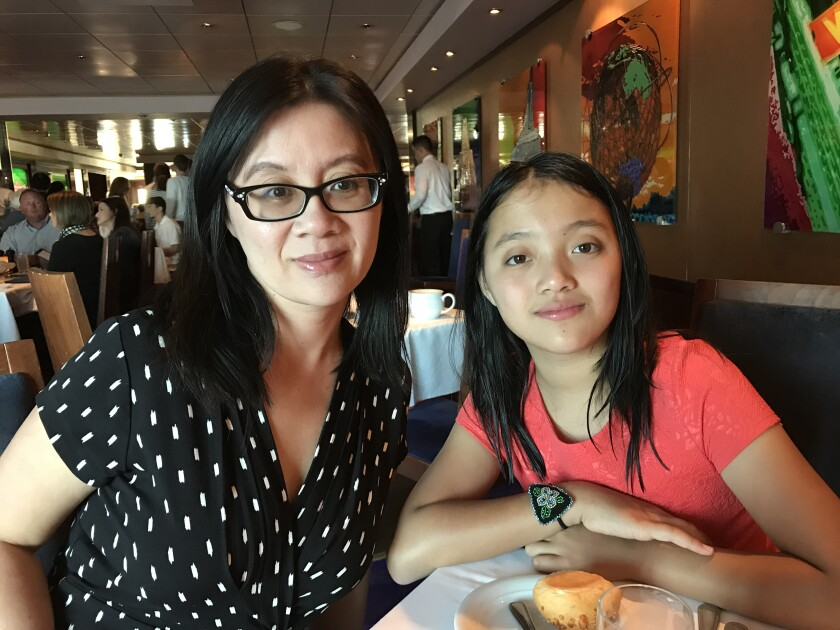 Dr. Vi Nguyen with her daughter, Vivi Young