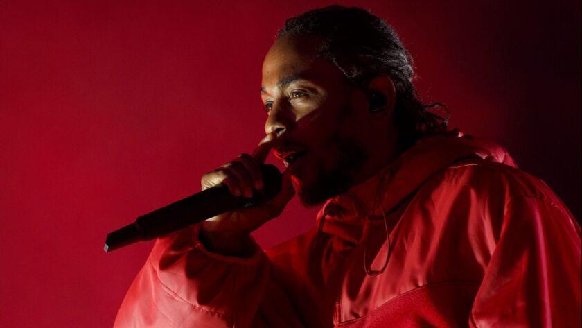 Kendrick Lamar Performs at LA LIVE