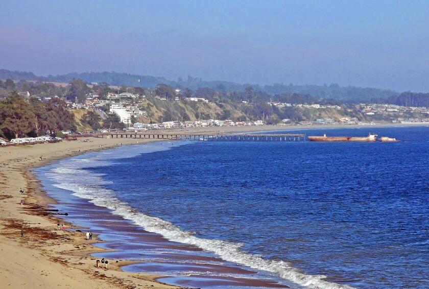 Seacliff State Beach in Aptos, Calif.