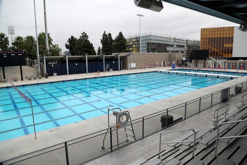A new Aquatics Complex building opened at Orange Coast College