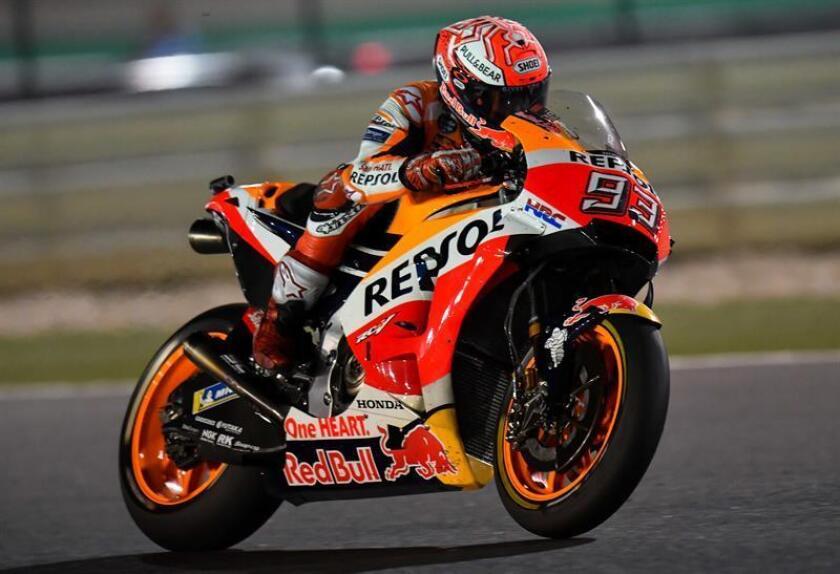 En la imagen, el piloto español de MotoGP Marc Márquez, del equipo Repsol Honda. EFE/Archivo