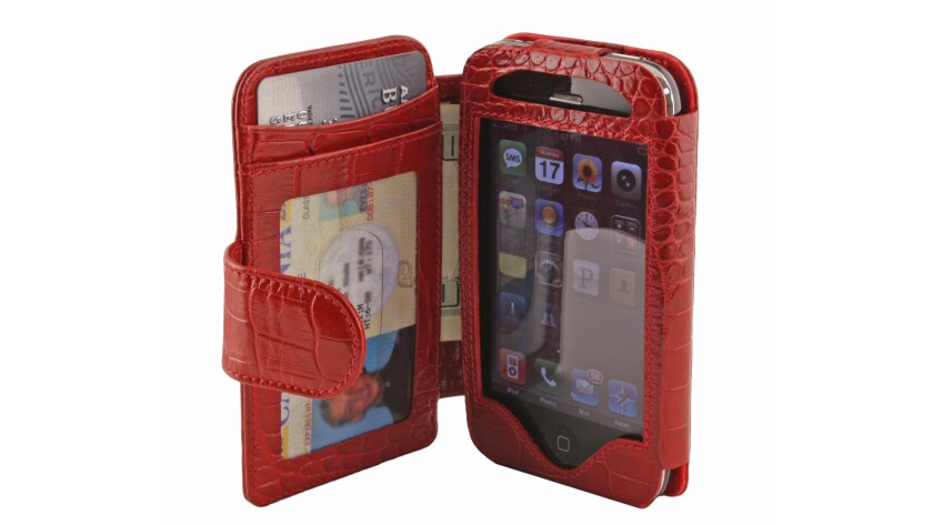This small clutch from Sena Cases can accommodate your iPhone, about six credit cards and some cash. Various colors, $49.99.