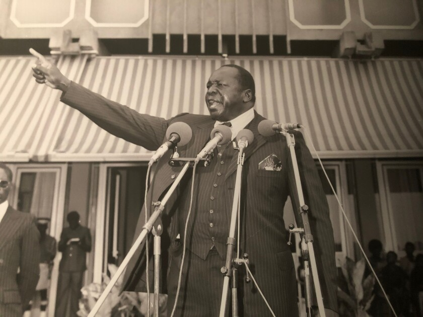 An image of dictator Idi Amin is displayed at the Uganda Museum in Kampala.