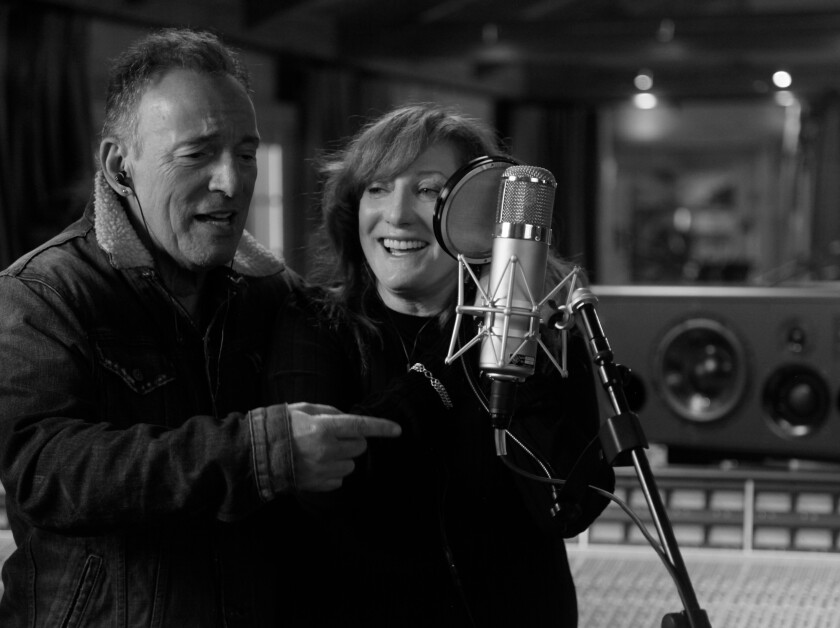 """Bruce Springsteen and Patti Scialfa in """"Bruce Springsteen's Letter to You"""""""