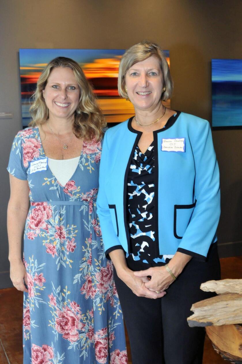 Solana Beach Fund Founder Laura Fleming, Coastal Community Foundation Executive Director Sharon Omahen