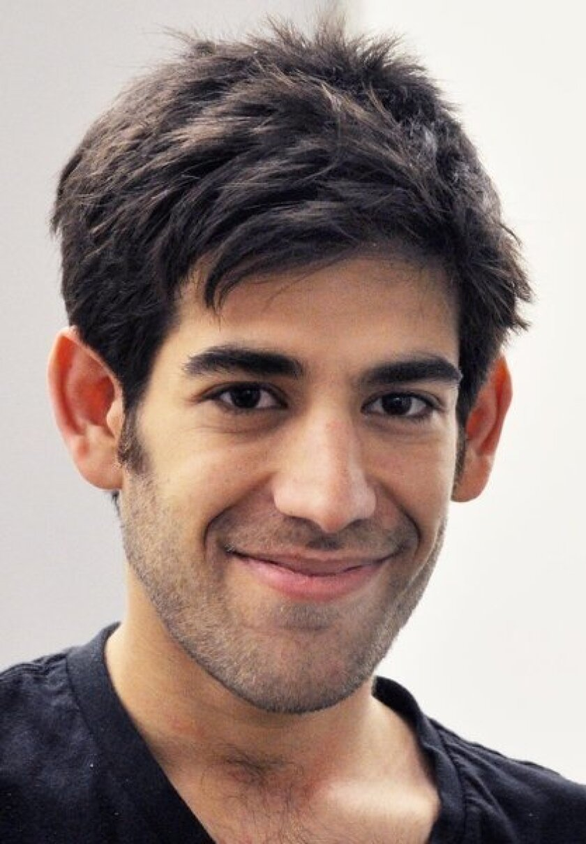 Aaron Swartz, crusader for openness, killed himself just over a month after this photograph was taken. He faced federal felony charges of stealing data from MIT's library.