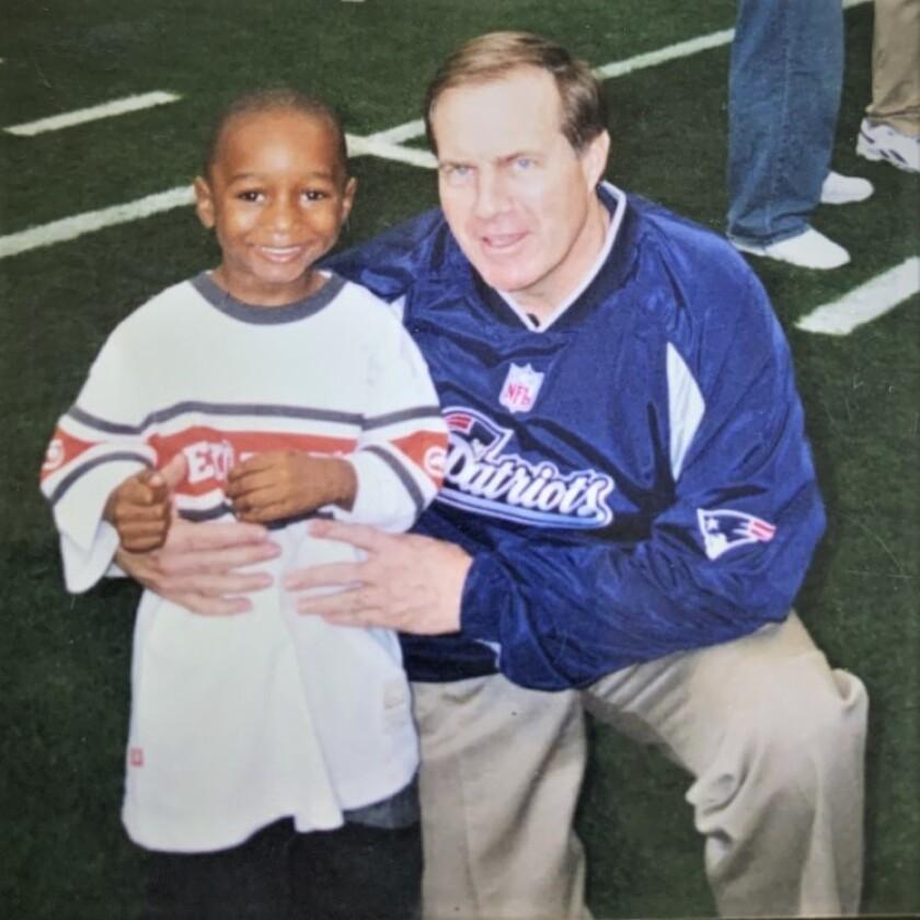 Asante Samuel Jr. with the coach