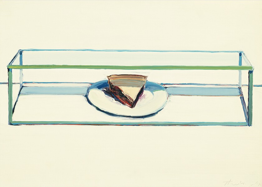 """Caged Pie"" (1962), Wayne Thiebaud, San Diego Museum of Art"