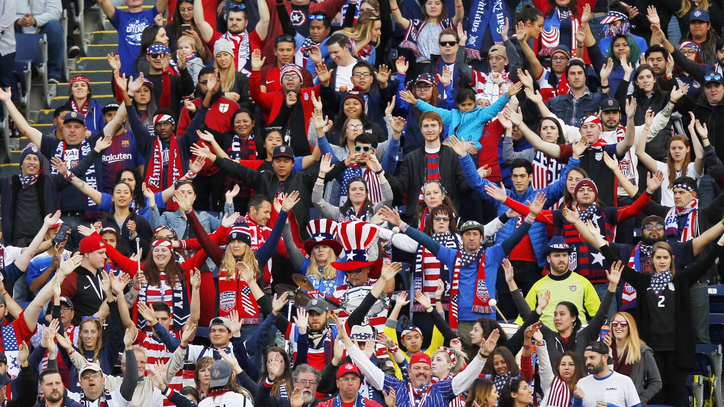 Fans cheer as the United States played Denmark in an International Friendly at San Diego County Credit Union Stadium on Jan. 21, 2018. (Photo by K.C. Alfred/ San Diego Union-Tribune)